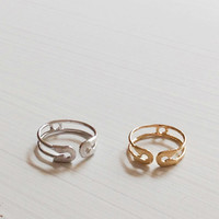 Safty Pin Knuckle Ring #144