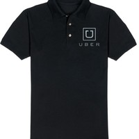 Mens UBER logo POLO SHIRT NEW Taxi Car Hire Service Rideshare Driver Black