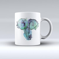The African Sketch Elephant ink-Fuzed Ceramic Coffee Mug