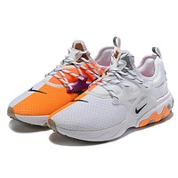 Bunchsun NIKE REACT PRESTO New fashion hook sports leisure couple shoes White