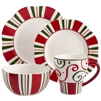 Christmas Stripes Dinnerware