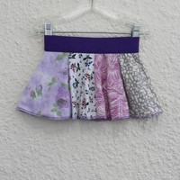 18-24 Month Baby Skirt,  Skirt for Baby made from Upcycled T Shirts,  Infant Skirt made from Recycled T-shirts, Skirt to go with a Onsie(24)