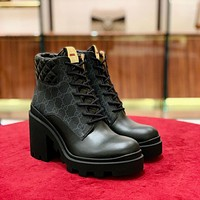 Women's GG ankle boots shoes