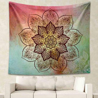 Bohemian Tapestry Colored Printed Decorative Mandala Tapestry Indian 130cmx150cm 153cmx203cm Boho Wall Carpet