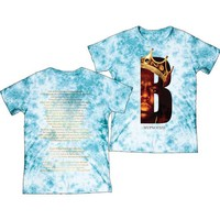 Notorious B.I.G. Men's  Biggie B Crown Tie Dye *EXPLICIT LYRICS* Tie Dye T-shirt Blue