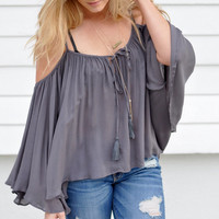 Causal Loose Strappy Blouse 11734