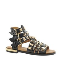 River Island Parch Gladiator Heavy Studded Sandals at asos.com