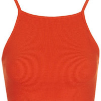 Ribbed Cropped Cami - Tomato