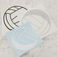 3x3 Inch Volleyball Insignia Athletic Graphic Permanent Vinyl Decal/Bumper Sticker