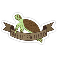 'Save the Sea Turtles' Sticker by nyurhurr