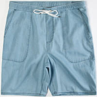 Tavik Evans Mens Volley Shorts Blue  In Sizes
