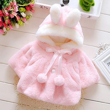 Proumhang Childrens Clothing Unisex Clothes Hooded Cloak Cotton Windproof Cloak Thick Warm Cloak Baby Out Clothing Shawl