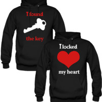 I FOUND THE KEY MY HEARD IS LOKED LOVE DESIGNED Couple Hoodie