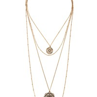 Ornate Pendant Necklace - Jewelry - Necklaces - 1000233690 - Forever 21 EU English
