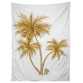 Madart Inc. Gold Palm Trees Tapestry