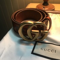 Gucci Loved Wide Leather Belt 70/ 28
