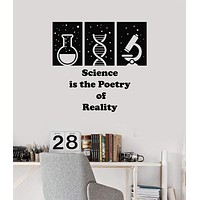 Vinyl Wall Decal Science Lab Quote School Class Scientific Art Decor Stickers Mural (ig5265)