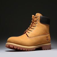 Timberland Rhubarb Boots 10061 Yellow For Women Men Shoes Waterproof Martin Boots