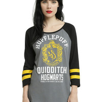 Harry Potter Hufflepuff Quidditch Girls Raglan
