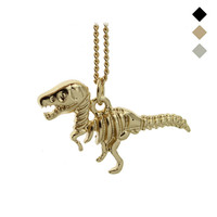 "2015 New Hot Fashion Gold/Black/Bronze Tone Jewelry Dinosaur Pendant 16"" Short Necklace Birthday Gift For Sweet Heart Girl EG018"