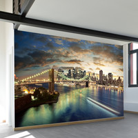 NYC On The Hudson Wall Mural