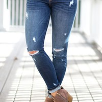 Perfectly Imperfect Dark Wash Jeans | Monday Dress Boutique