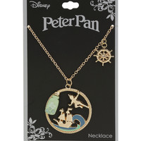 Disney Peter Pan Story Frame Pendant Necklace