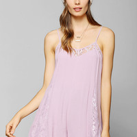 Pins And Needles Lace-Inset Slip Romper - Urban Outfitters
