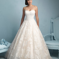 Allure Bridals 9217 Lace Ball Gown Wedding Dress