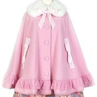 Mademoiselle Cape - Pink [172C09-050038-pk] - $302.00 : Angelic Pretty USA