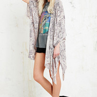Ecote Crinkle Square Kimono Jacket in Purple - Urban Outfitters