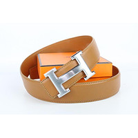 Hermes belt men's and women's casual casual style H letter fashion belt511
