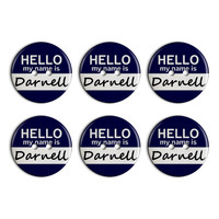 Darnell Hello My Name Is Plastic Resin Button Set of 6