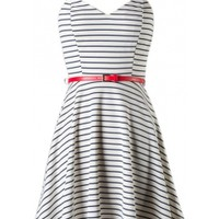 Striped Open Back Dress