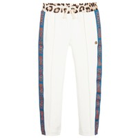 Girls Ivory Leopard Logo Sweatpants