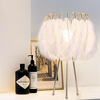 Light Unique Feather Table Lamp For Home Brightness