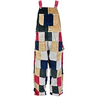 Multi-Color Patchwork Overalls