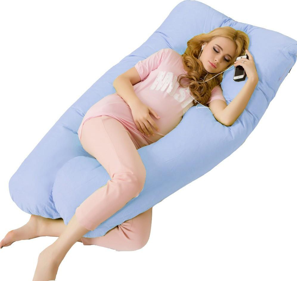 Image of Big U Type Pregnancy Pillows Body Pillow for Pregnant Women Side Sleepers Pregnancy Pillow For Neck