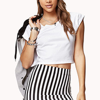 Rolled Sleeve Cropped Tee