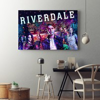 Riverdale Pops Diner Abstract Framed Canvas Wall Art