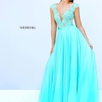 Sherri Hill 11269 Open Back Chiffon Gown