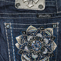 MISS ME FLOWER CRAZE SKINNY JEANS