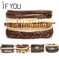 Brinco Rock Leather Men's Bracelet