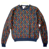 Colorful Feathers Cosby Style Ugly Sweater