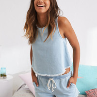 Aerie Denim Short, Light Blue