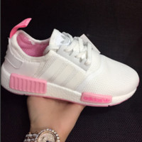 """""""ADIDAS"""" Fashtion Running NMD Sport Casual Shoes Sneakers White Pink Solse G-MDTY-SHINING"""