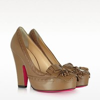 Luciano Padovan Brown Leather Pump | FORZIERI