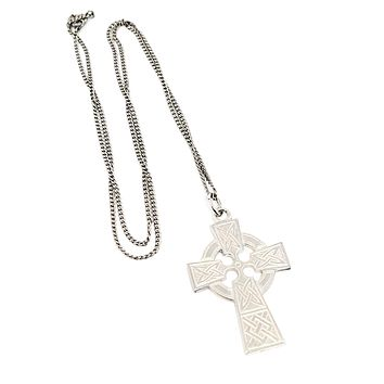 R sterling Celtic cross trinity knot sterling silver pendant necklace 925