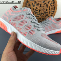 hcxx N118 Nike Zoom Flyknit Hollow Breathable Fashion Running Shoes Grey Pink
