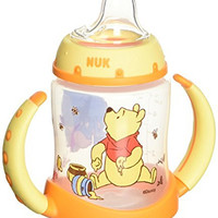 NUK Disney Winnie the Pooh 5 Ounces Learner Cup Silicone Spout, 6+ Months
